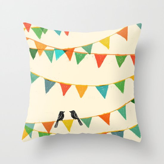 Carnival is coming to town Throw Pillow