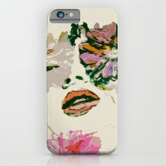 Woman In flowers iPhone & iPod Case