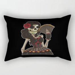 Skeleton Lady of the Dead | La Calavera Catrina Rectangular Pillow