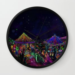 Magical Night Market Wall Clock