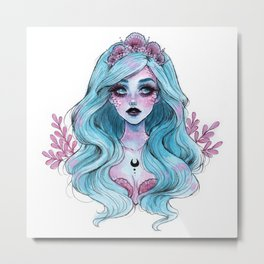 Pearlescent mermaid Metal Print