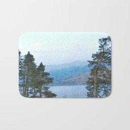 Pine Trees at Thirlmere, Lake District, Cumbria, UK Watercolour Bath Mat