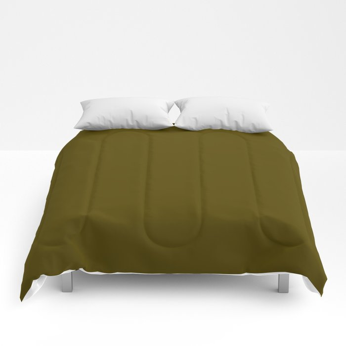Dark Bronze (Coin) - solid color Comforters