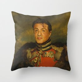 Sylvester Stallone - replaceface Throw Pillow