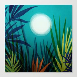 Midnight In The Jungle Canvas Print
