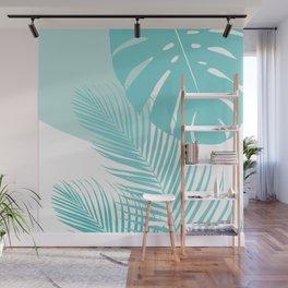 Minimal Monstera Palm Finesse #10 #tropical #decor #art #society6 Wall Mural