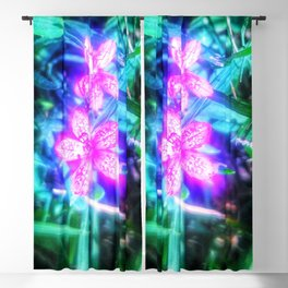 Glowing Flowers Blackout Curtain
