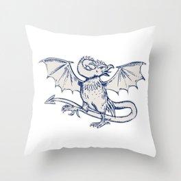Basilisk Crowing Throw Pillow