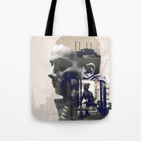 mike wrobel Tote Bags featuring MIKE by Steve Darby