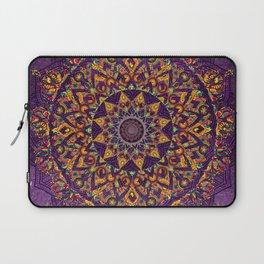 Mandala Purple Zen Spiritual Bohemian Hippie Indian Yoga Mantra Meditation Laptop Sleeve