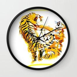 Tiger Fight Wall Clock