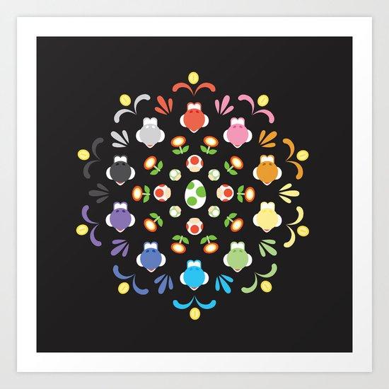 Yoshi Prism Art Print