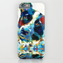 Colorful Dog Art - Irresistible - By Sharon Cummings iPhone Case