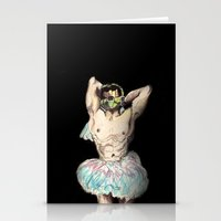 master chief Stationery Cards featuring Master Chief Ballerina.  by Emily Blythe Jones