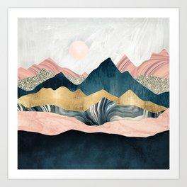 Plush Peaks Art Print