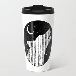 Woodland Night Wolf Travel Mug