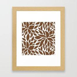 Bloom - Caramel Framed Art Print