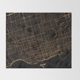 Toronto map, Canada Throw Blanket