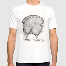 Man In Sheep's Clothing Mens Fitted Tee White MEDIUM