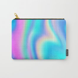 Iridescent Holographic Abstract Colorful Pattern Carry-All Pouch