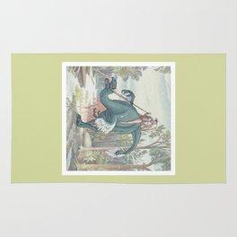 Castiel Pinup on a Dinosaur Rug