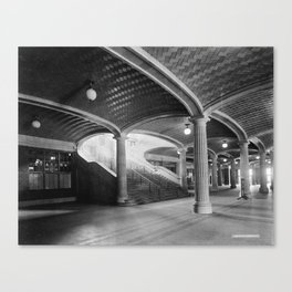 Lobby stairs to waiting room and concourses, C. & N.W. Ry., Chicago, Ill. Canvas Print