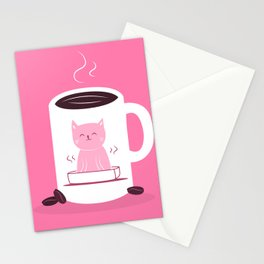 Coffee makes me poop Stationery Cards