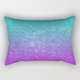 Tropical Twilight Glitter Gradient Rectangular Pillow