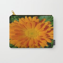 Orange Marigold Close Up With Garden Background  Carry-All Pouch