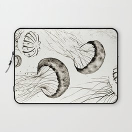 jelly fishes black and white Laptop Sleeve