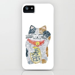 Watercolor Maneki Neko / Lucky Cat iPhone Case