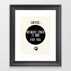 Coffee Art Print  and Crack Framed Art Print