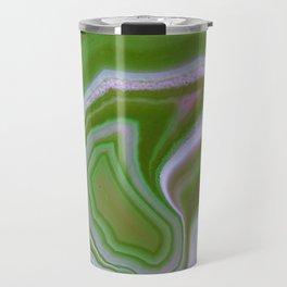 green colored agate Travel Mug