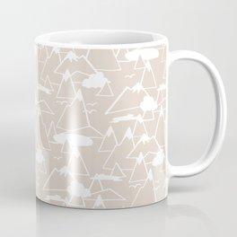 Mountain Scene in Beige Coffee Mug