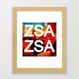 Zsa Zsa (for Craig) Framed Art Print