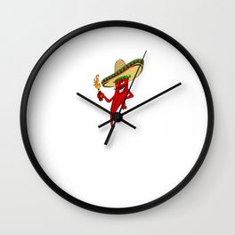 Hot Sauce BOSS I Hot Chili and Spicy Food Lover Wall Clock