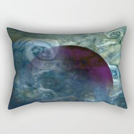 """Blue clouds on Saturn"" Rectangular Pillow"