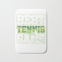 Best Tennis Game Gameplay Ball Player Racket Net Racquet Court Gift Bath Mat