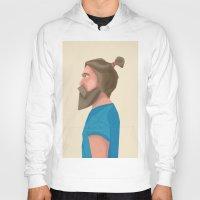 beard Hoodies featuring Beard by L P C