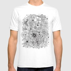 MOSTLY HARMLESS White MEDIUM Mens Fitted Tee