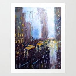 Night New York Art Print