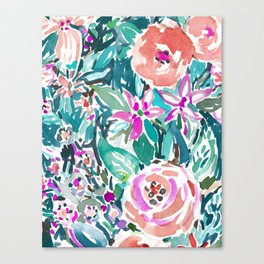 TROPICAL TREK FLORAL Canvas Print