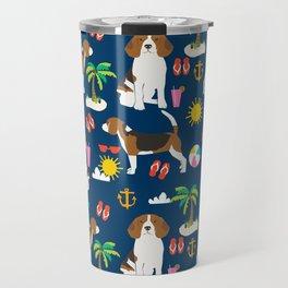 Beagle beach vacation dog breed lover beagles must haves summer gifts Travel Mug