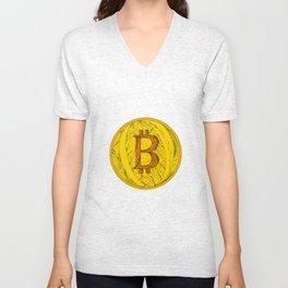 Bitcoin Doodle Art Unisex V-Neck