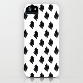 Falling for you black and white pattern iPhone Case