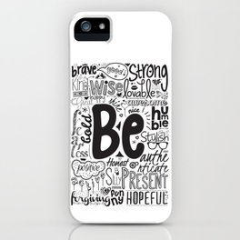 Lab No. 4 - Inspirational Positive Quotes Poster iPhone Case