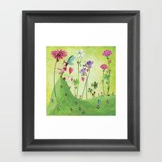 my biggest flower's for you, hun! Framed Art Print