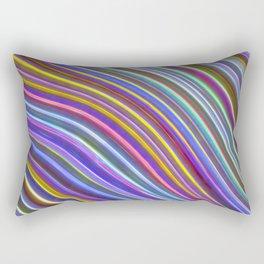 Wild Wavy Lines 29 Rectangular Pillow