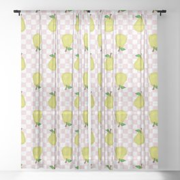 Checked Pears Sheer Curtain