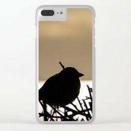 sunset bird silhouette Clear iPhone Case